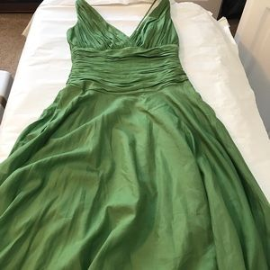 Lovely green cotton and silk dress.